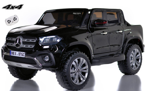 4 wheel drive 4x4 Mercedes X Class Ride On Truck w/ Remote Control - Black