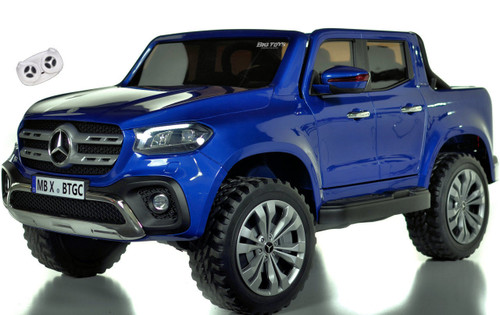 4 wheel drive 4x4 Mercedes X Class Ride On Truck w/ remote control -Blue