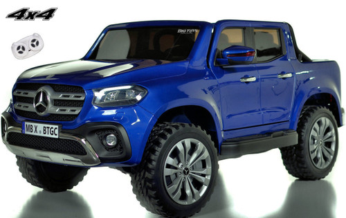 4 wheel drive 4x4 Mercedes X Class Ride On Truck w/ remote control -Blue