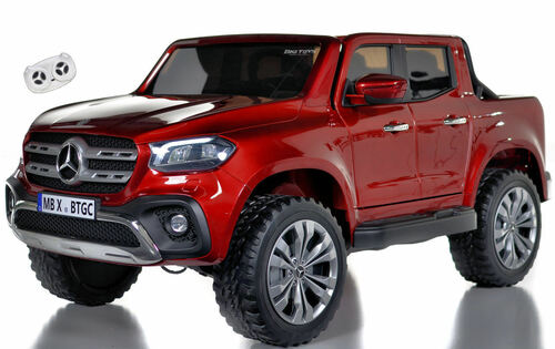 4x4 Mercedes X Class Ride On Truck w/ Remote Control - Red