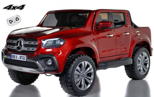 4 wheel drive 4x4 Mercedes X Class Ride On Truck w/ remote control -Red