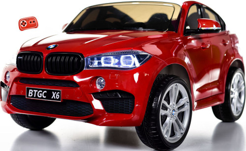 Big 2 Seater BMW X6 Toddler Ride on SUV w/ Rubber Tires & RC Control Red