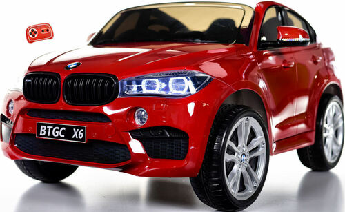 Big 2-Seater BMW X6 Toddler Ride on SUV w/ Rubber Tires & RC Control - Red