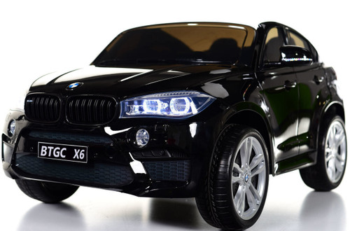 Big 2 Seater BMW X6 Toddler Ride on SUV w/ Rubber Tires & RC Control black