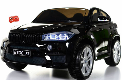 Big 2 Seater BMW X6 Toddler Ride on SUV w/ Rubber Tires & RC Control - Black