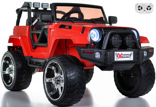 Ride on lifted Crawler w. rubber tires leather seat