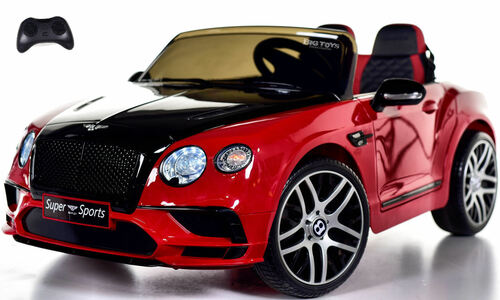 Bentley GT SuperSports Ride On 12V Car w/ Remote Control & Rubber Tires - Red
