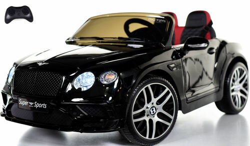 Bentley GT SuperSports Ride On 12V Car w/ Remote Control & Rubber Tires - Black