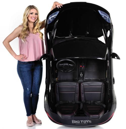 Giant 24V Big Kids Ride on Super Car XXL 180W Motor & Rubber Tires - Black