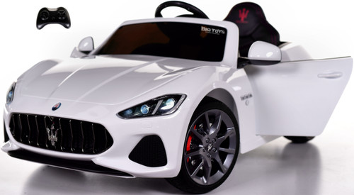 New Maserati Ride On Car w/ remote control + upgraded motors & MP3 -White