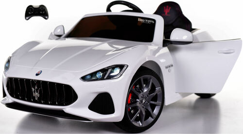 New Maserati GranCabrio Ride On Car w/ remote control + upgraded motors & MP3 -White