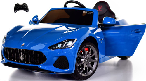 New Maserati GranCabrio Ride On Car w/ remote control & MP3 -Blue