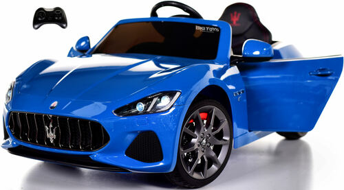 New Maserati GranCabrio Ride On Car w/ Remote Control & MP3 - Blue