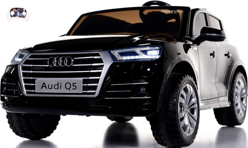 Audi Q5 Ride On SUV w/ Leather Seat & Rubber Tires - Black