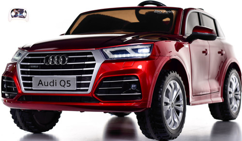 Audi Q5 Ride On SUV w/ Leather Seat & Rubber Tires - Red
