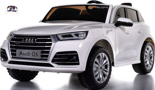 24v Audi Q5 Ride On SUV w/ Leather Seat & Rubber Tires - White