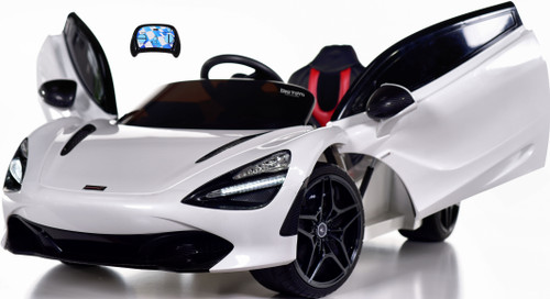 McLaren 720S 12V toddler Ride On Car w/ remote control & vertical doors - White