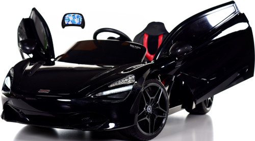 McLaren 720S 12V toddler Ride On Car w/ remote control & vertical doors - Black
