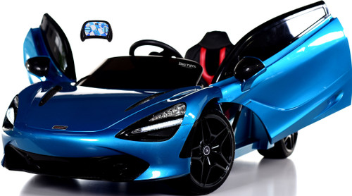 McLaren 720S 12V toddler Ride On Car w/ remote control & vertical doors - Blue