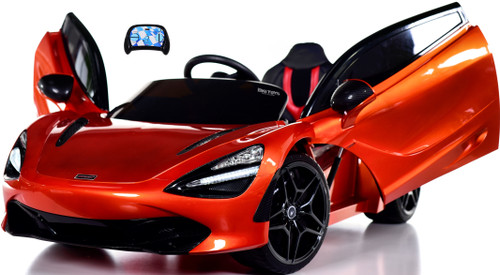McLaren 720S 12V Toddler Ride On Car w/ Remote Control & Vertical Doors - Orange