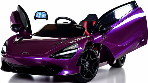 McLaren 720S 12V Toddler Ride On Car w/ Remote Control & Vertical Doors - Purple