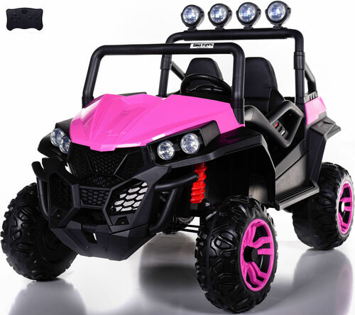 24v Trail Cat 2.0 Ride On UTV w/ Rubber Tires & Leather Seat - Pink