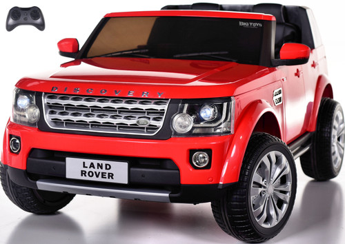 12v Land Rover Discovery Ride On Truck w/ Rubber Tires - Leather Seat - Red
