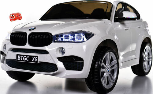 Big 2 Seater BMW X6 Toddler Ride on SUV w/ Rubber Tires & RC Control White