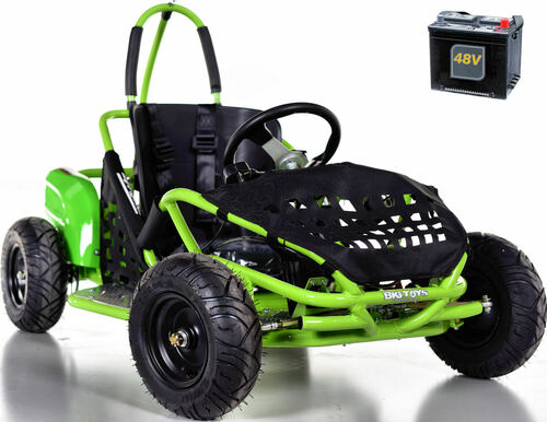 Big Toys Baja Electric 48V Go-Kart w/ BIG MOTOR - Green