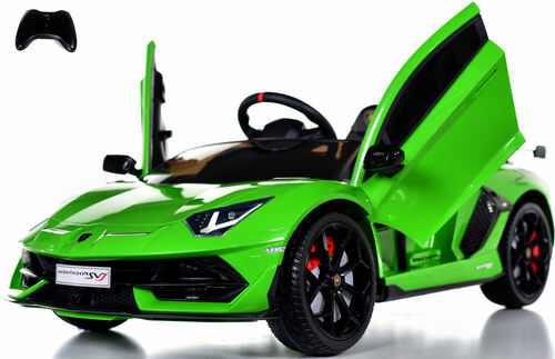 Lamborghini Performante Ride On car w/ Leather Seat & Rubber Tires - Green
