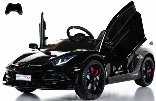 Lamborghini Performante  Ride On car w/ Leather Seat & Rubber Tires - Black