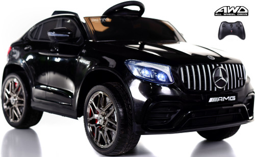 Mercedes GLC 63S Ride On SUV w/ All Wheel Drive & Rubber Tires - Black
