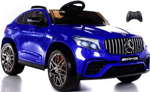 Mercedes GLC 63S Ride On SUV w/ All Wheel Drive & Rubber Tires - Blue