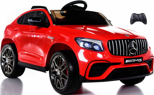 Mercedes GLC 63S Ride On SUV w/ All Wheel Drive & Rubber Tires - Red