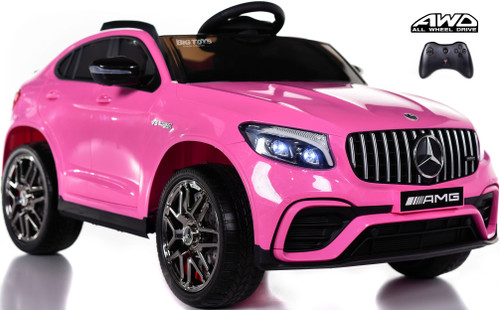 Mercedes GLC 63S Ride On SUV w/ All Wheel Drive & Rubber Tires - Pink
