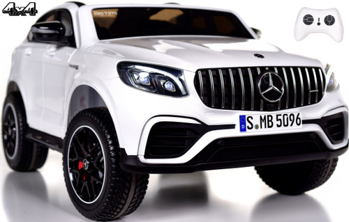 2-Seat Mercedes GLC 63S Ride On SUV w/ All Wheel Drive & Rubber Tires - White