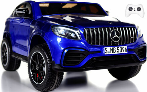 2-Seat Mercedes GLC 63S Ride On SUV w/ All Wheel Drive & Rubber Tires - Blue