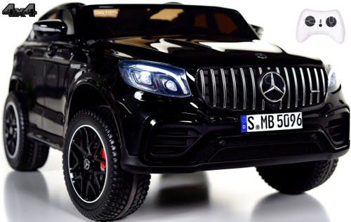 2-Seat Mercedes GLC 63S Ride On SUV w/ All Wheel Drive & Rubber Tires - Black