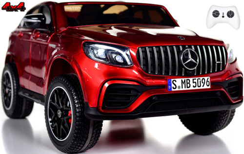 2-Seat Mercedes GLC 63S Ride On SUV w/ All Wheel Drive & Rubber Tires - Red