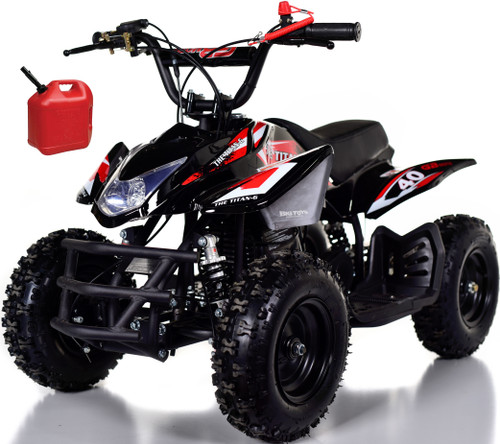 Titan 40CC Kids Mini 4 Wheeler ATV + FREE Shipping - Red