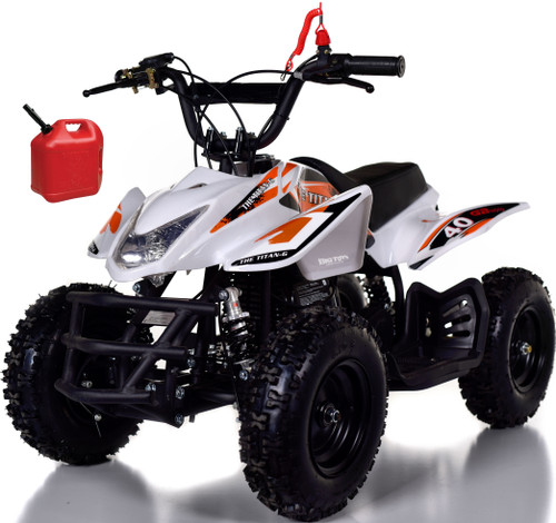 Titan 40CC Kids Mini 4 Wheeler ATV + FREE Shipping - White
