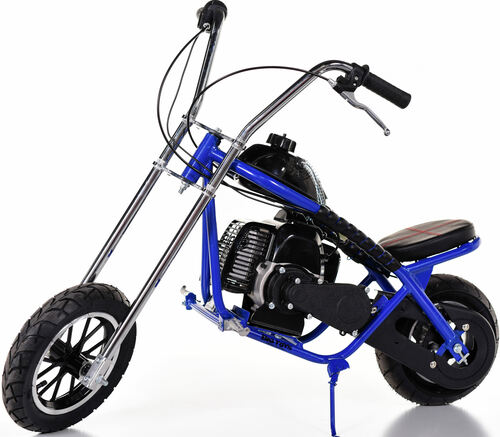 Fast Kids Mini Bike Chopper Motorcycle 49cc Gas - Blue