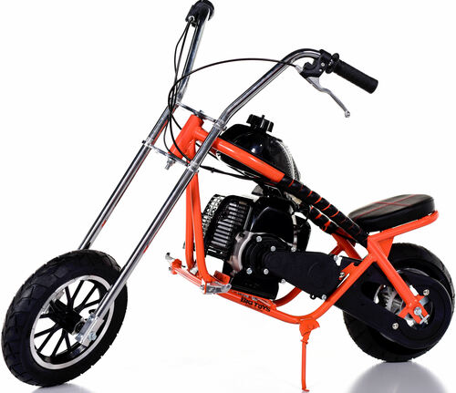 Fast Kids Mini Bike Chopper Motorcycle 49cc Gas - Orange