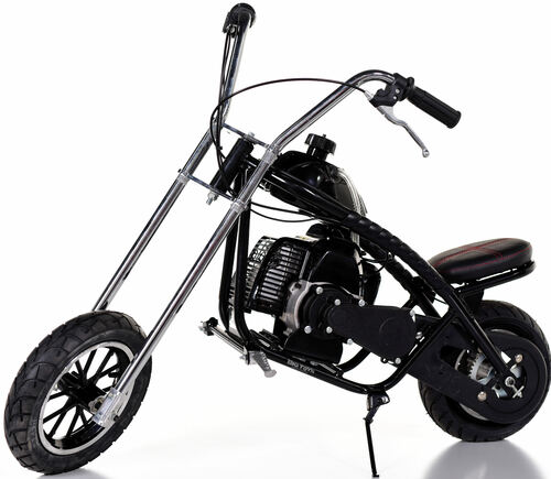 Fast Kids Mini Bike Chopper Motorcycle 49cc Gas - Black