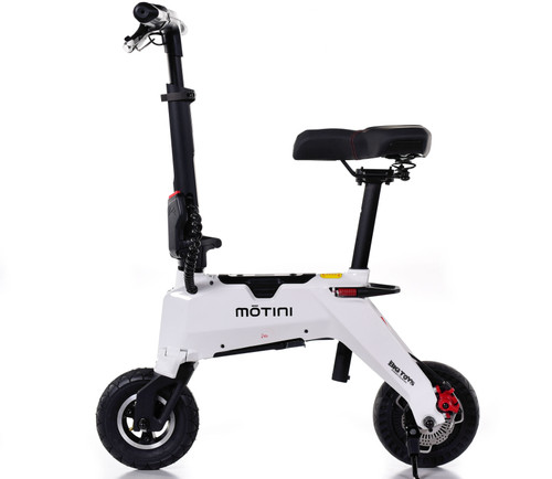 Nano Folding Bike 36v 250w Lithium Electric Scooter - White