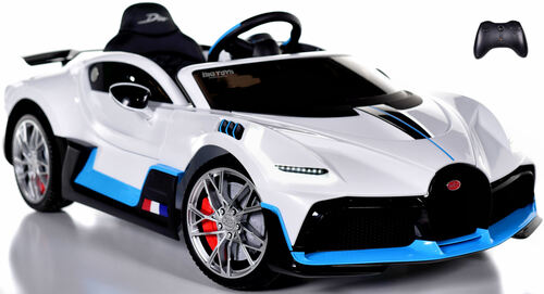 Bugatti Divo Ride On Car w/ Rubber Tires & Leather Seat - White