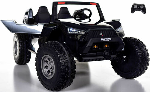 24v Challenger  XL Ride On 4x4 Buggy w/ RUBBER TIRES & LEATHER SEAT - Special Carbon Edition