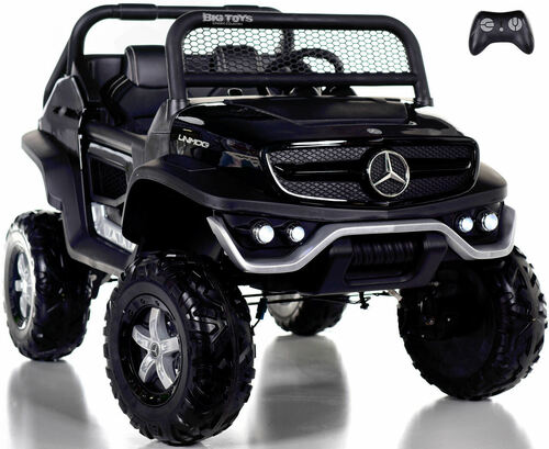 24v Mercedes Unimog Ride On UTV w/ Remote Control & Rubber Tires - Black
