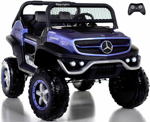 24v Mercedes Unimog Ride On UTV w/ Remote Control & Rubber Tires - Blue