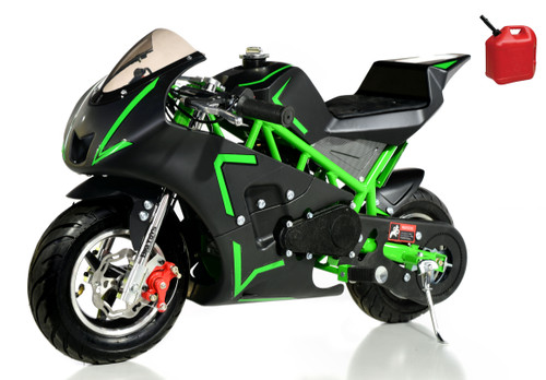 4-Stroke Gas Powered Pro Pocket Bike / Mini Motorcycle - Green